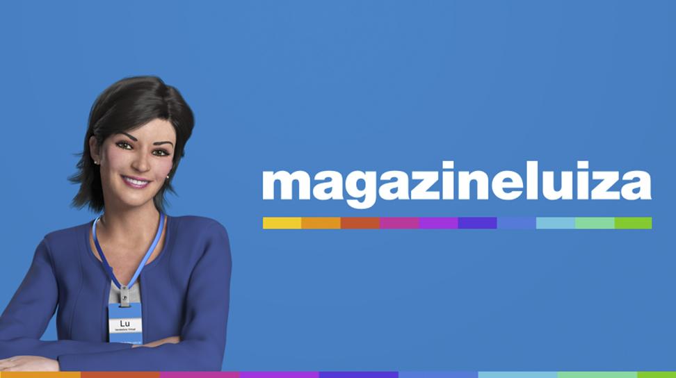 Lu do Magalu e logo do Magazine Luiza