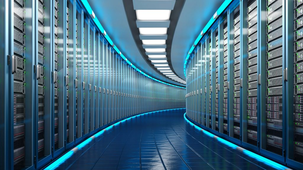 sala com servidores (data center)